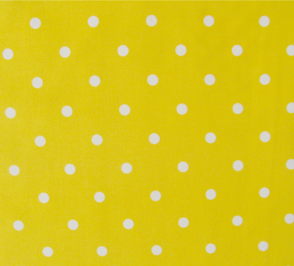 Mint dots on yellow