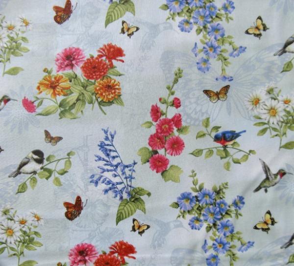 Sandy's Garden floral w/birds