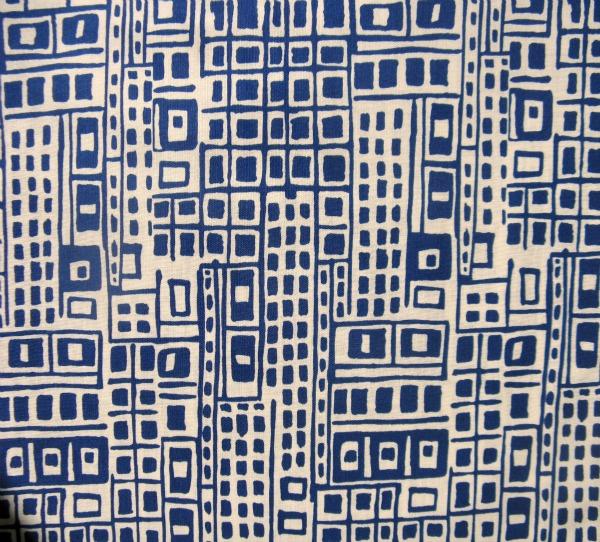 Cityscape blue on ivory