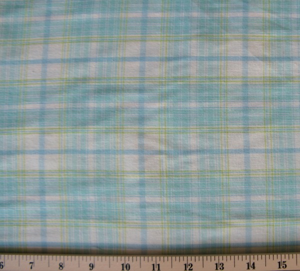 Wee Wovens blue/green plaid