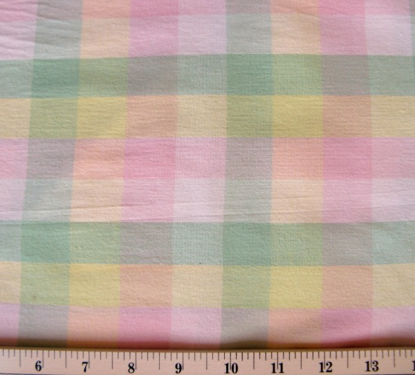 Wee Wovens pink/green/yellow lawn plaid
