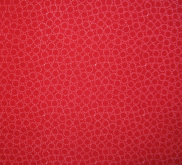 Circles on red (flannel)