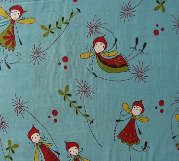 Woodland fairies on turquoise