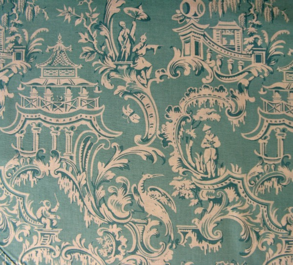 Chinoiserie 'Pavilion' turquoise