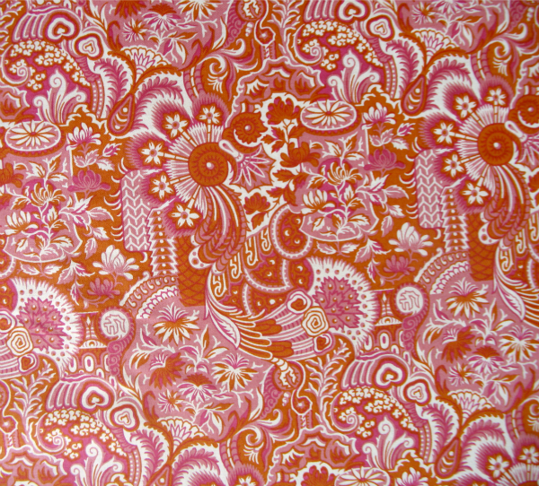 Chinoiserie 'Prosperity' orange