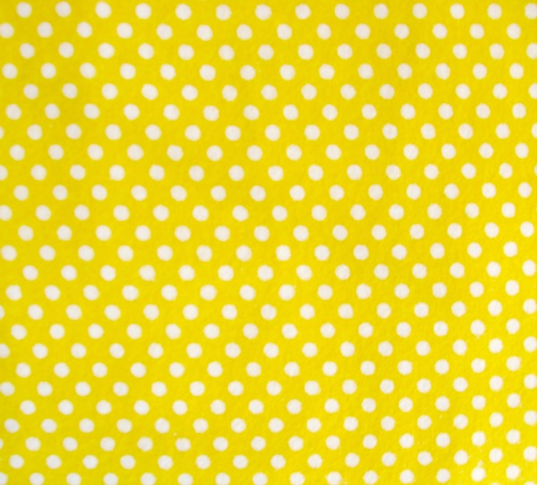 Small dots on yellow flannel