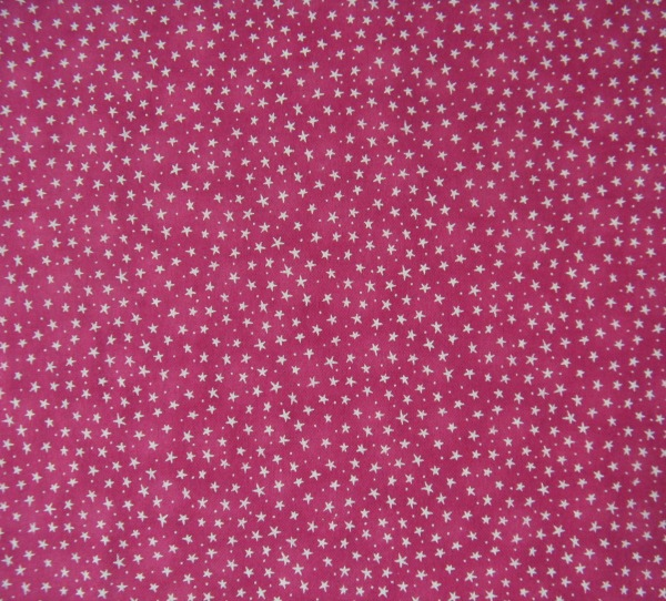 stars on pink flannel
