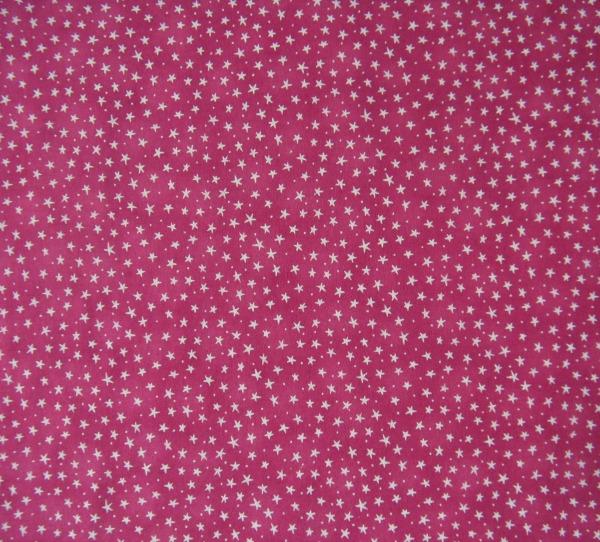 stars on pink flannel