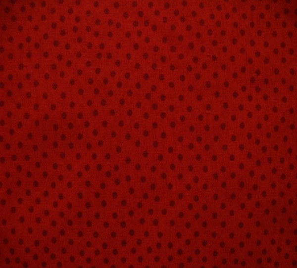Red dots tonal flannel