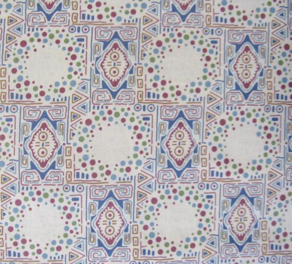 Downton Abbey tiles & dots cream Sybil