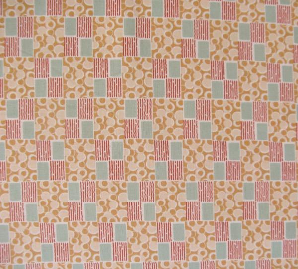 Downton Abbey circles & squares peach