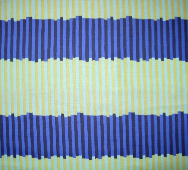 Market Mix awning stripe aqua/blue