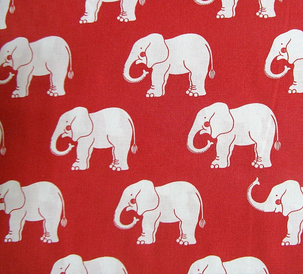 Trunk Show elephants red