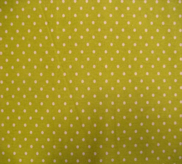 Linen Mochi Dot chartreuse