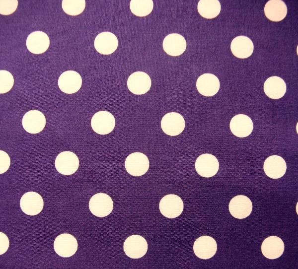 Dottie medium white on purple