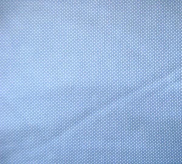 Dottie tiny white on light blue