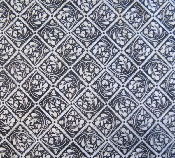 Bohemia acorn tiles b/w