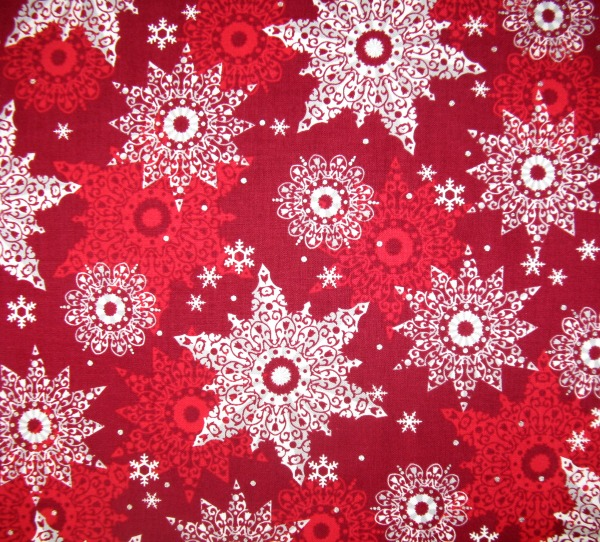 Celebrate the Season snowflakes red