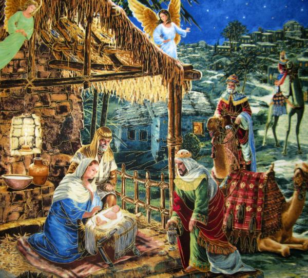 O Holy Night nativity panel