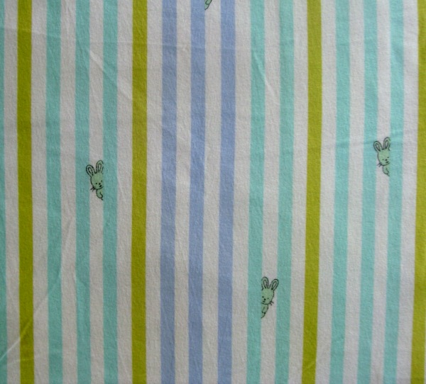 Bunny stripe flannel