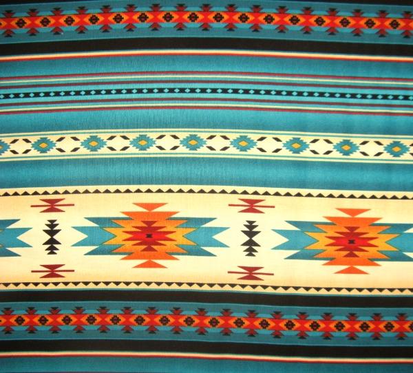 Tucson blanket stripe turquoise