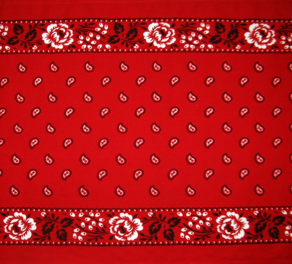 Toweling red bandana