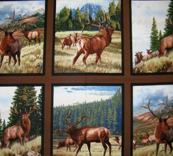 N. Amer. Wildlife elk panel