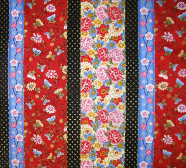 Sakura floral stripe