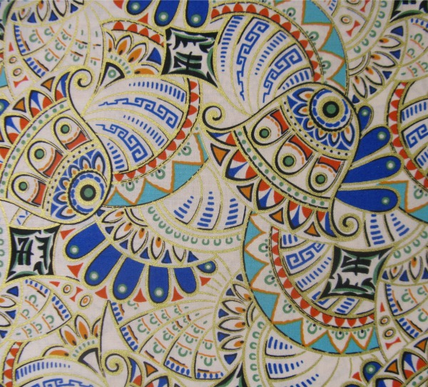 Downton Abbey Egyptian lotus swirl