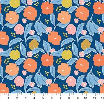 Rollakan med floral blue