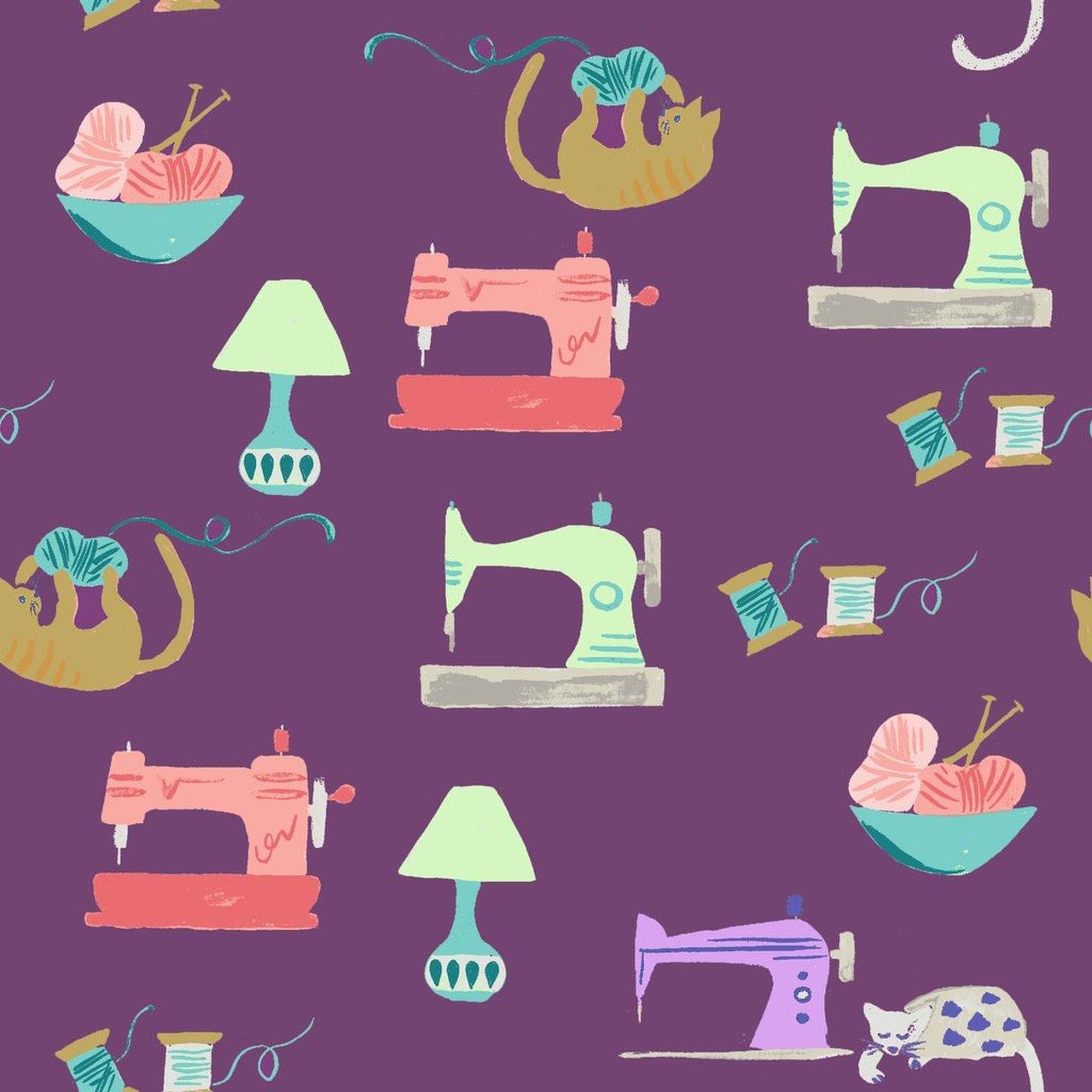 Saturday Sewing purple