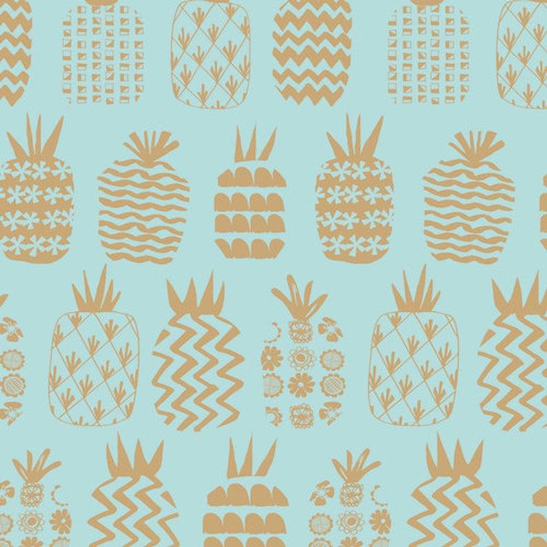 Ocean Drive pineapples gold met