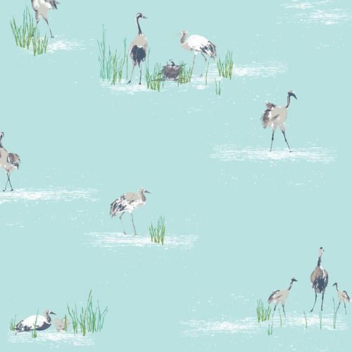 Floralish Wandering Cranes