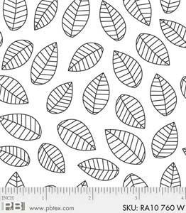 Ramblings leaves white/white
