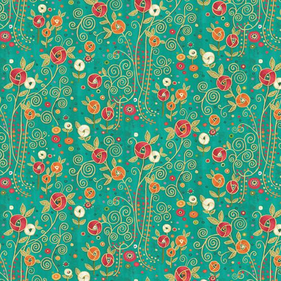 Rhapsody Flower Turquoise