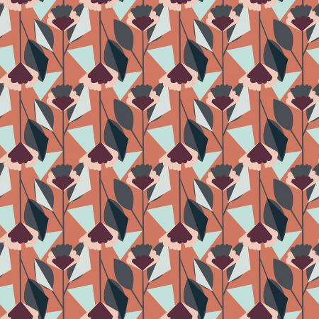 Emilia Florence burnt orange linen/cotton canvas