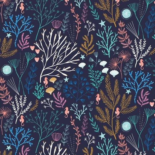Into the Blue Coral navy