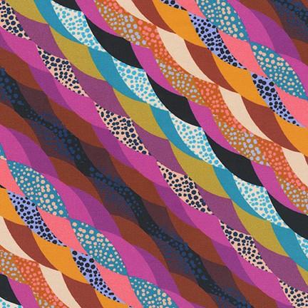 Loose Leaf Diagonal Ribbon Stripe fiesta