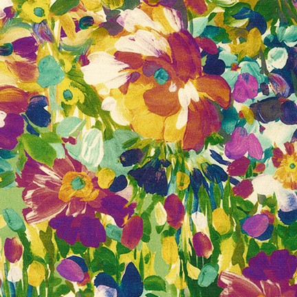 Painterly Petals packed floral med harvest