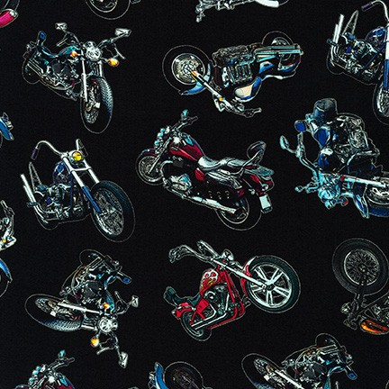 On the Road Motorcycles tossed black