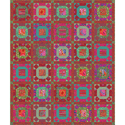 Gathering No Moss Quilt Along kit (Scarlet colorway)