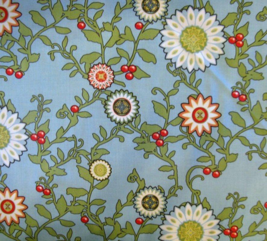 Felicity floral vines blue