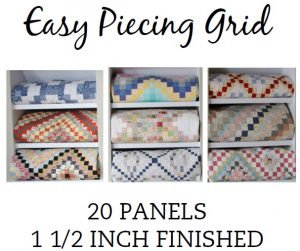 Easy Piecing Grid/1.5 Finished/20 Panels/TenSisters Handicraft