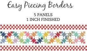 Easy Piecing Grid/1 Finished Borders/5 Panels/TenSisters Handicraft