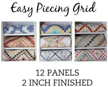 Easy Piecing Grid/2 Finished/12 Panels/TenSisters Handicraft