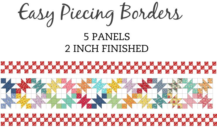 Easy Piecing Grids/2 Finished Borders/5 Panles/TenSisters Handicraft