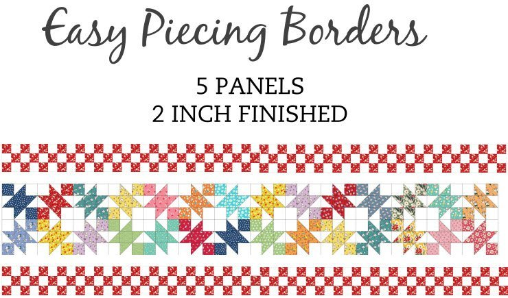 Easy Piecing Grids/2 Finished On-Point Borders/5 Panels/TenSisters Handicraft