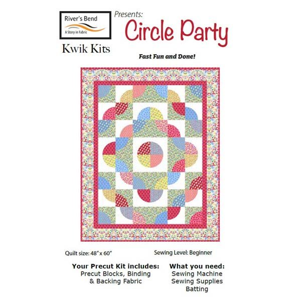 Circle Party KwikKit/Midwest Textiles/All Inclusive Kit  48x60