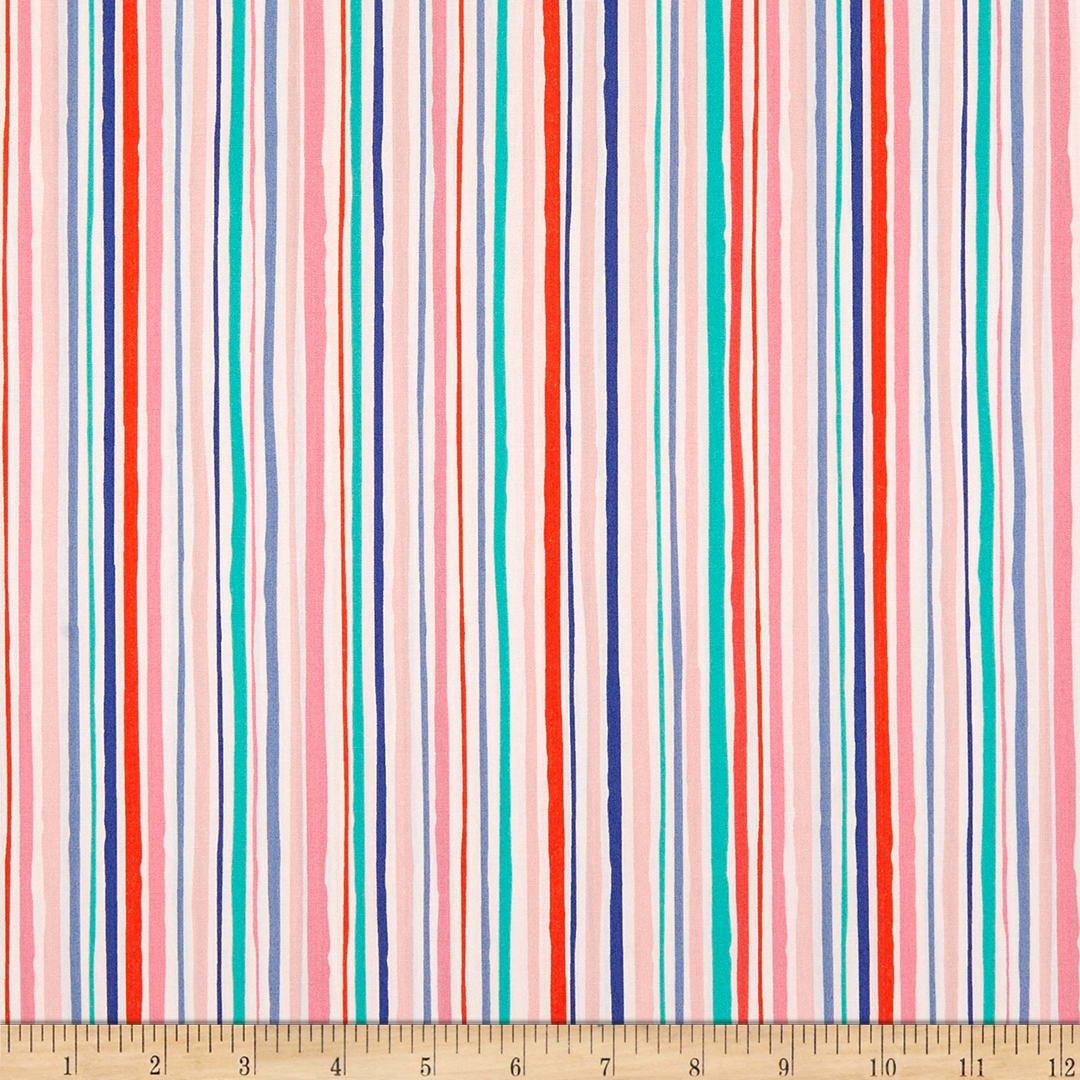 Flower Tiles Multi Color Stripe/Art Gallery
