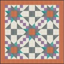 Easy Piecing Grid/Pretty Patchwork/2 Finished/3 PanelsTen Sisters Handicraft